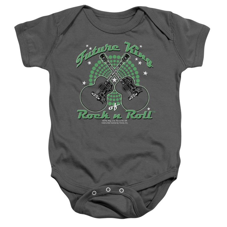 Elvis/Future King Infant Snapsuit in Charcoal