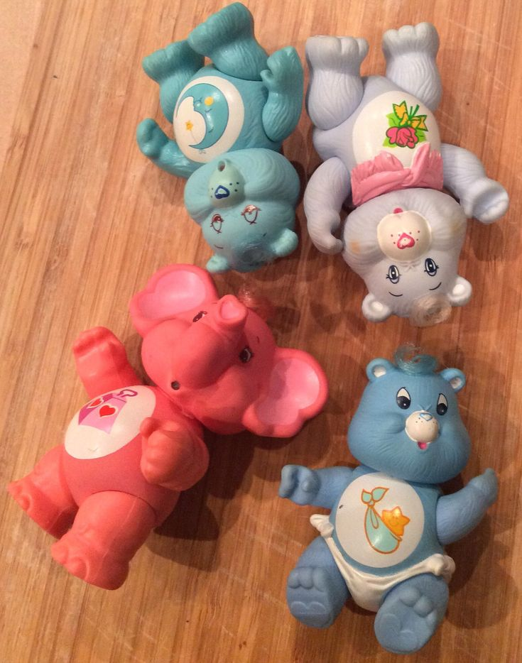 A personal favorite from my Etsy shop https://www.etsy.com/listing/495422764/vintage-lot-4-of-care-bears-figurines