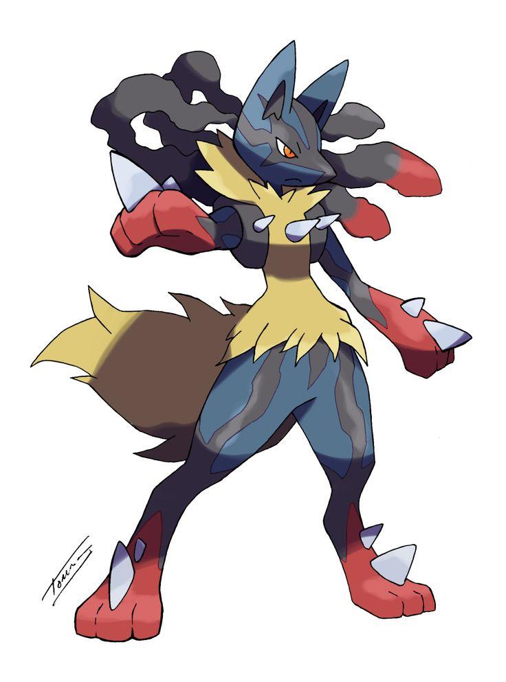 Lucario mega form by on - Pokemon mega kangourex ...
