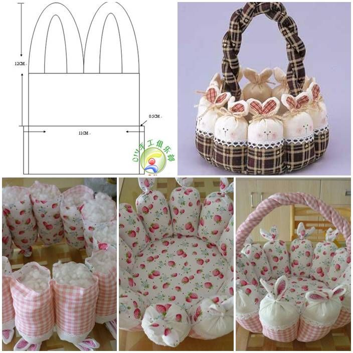 DIY Cute Easter Bunny Baket Tutorial DIY Cute Easter Bunny Basket Tutorial