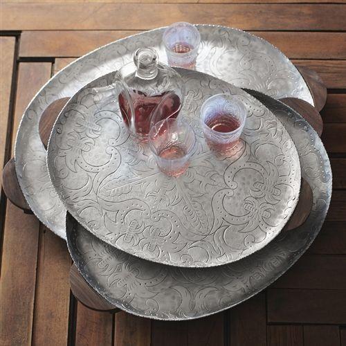 Aluminum Decorative Tray 32 Best Hammered Aluminum Images On Pinterest  Serving Bowls