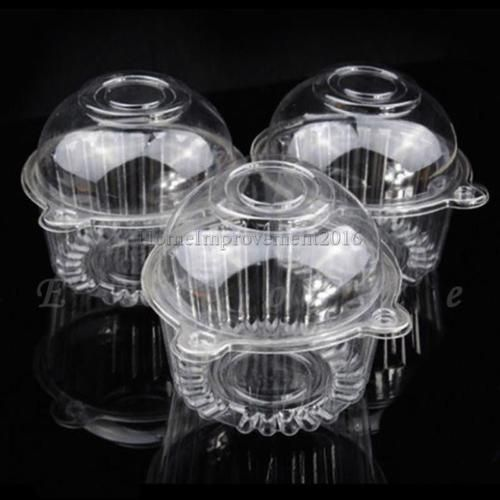 #Plastic clear hinged food takeout #container cupcake #cookie favor cake box,  View more on the LINK: 	http://www.zeppy.io/product/gb/2/122143334645/