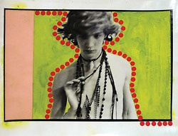 Robert Mapplethorpe  Self Portrait, ca 1970 Black and white photo with mixed-media collage