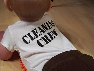 cleaning crew baby shirt