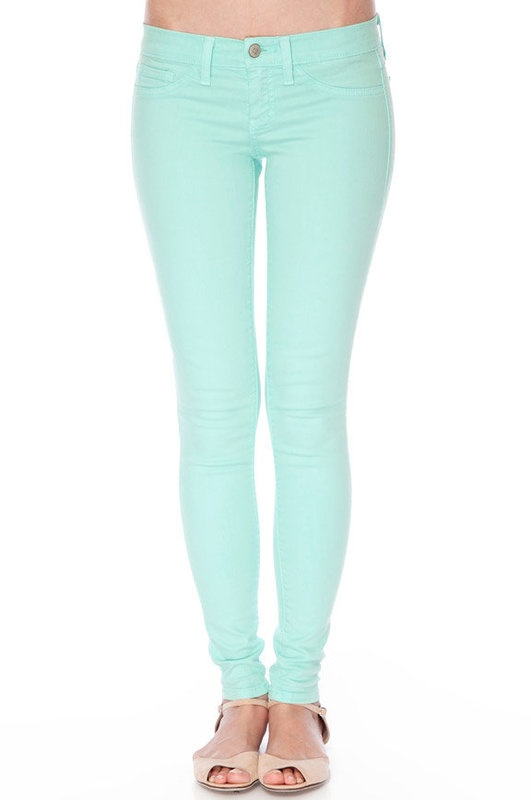 Amazing Womens Mint Green Skinny Jeans - Legends Jeans