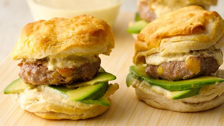 Mango mayo does a tasty tango with pork patties nestled in a biscuit. Sliders are ready in just 30 minutes!