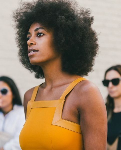 Solange's Amazing Afro Moment at New York Fashion Week // More of the Best Hair from New York Fashion Week: (http://www.racked.com/2015/9/11/9309889/nyfw-street-style#4830770)