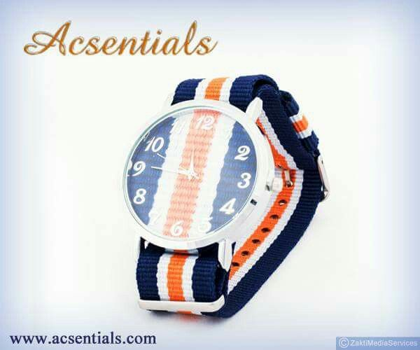 #acsentials #accessories #watches #trendycollections #happyshopping #Watch #FashionWatche #FashionAccessories #Stylish #Blue #Stipes #Happening