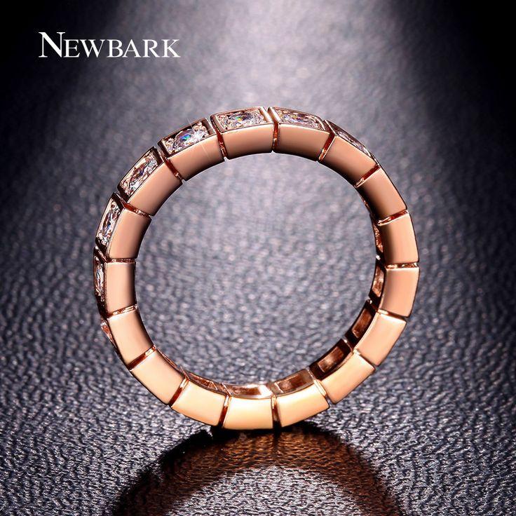 Newbark 여성 골동품 그의와 그녀의 약속 반지 채널 설정 17 개 라운드 큐빅 지르코니아 anel 보석 선물