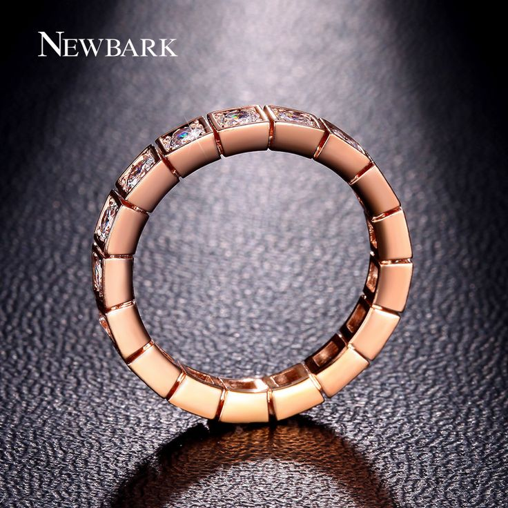 NEWBARK Wedding Rings For Women Antique His And Hers Promise Ring Channel Setting 17pcs Round Cubic Zirconia Anel Jewelry Gift