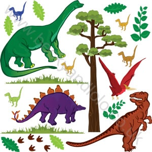 Dinosaurs Large Wall Stickers - sam's room
