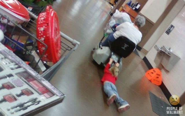 Only people of Walmart.. smh
