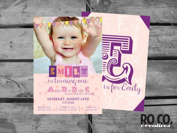 ABC Alphabet Birthday 1st Birthday Letter Party by RoCoCreatives, $20.00