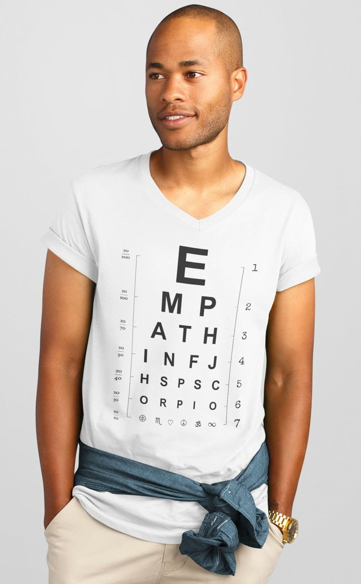 Empath INFJ HSP Scorpio eye chart tee -- Available in women's and men's!