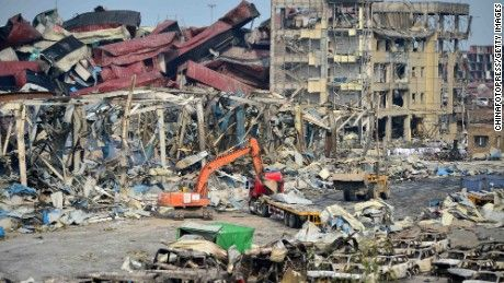 High levels of sodium cyanide remain at the site of last week's deadly chemical storage plant explosion in Tianjin, China, an official says.