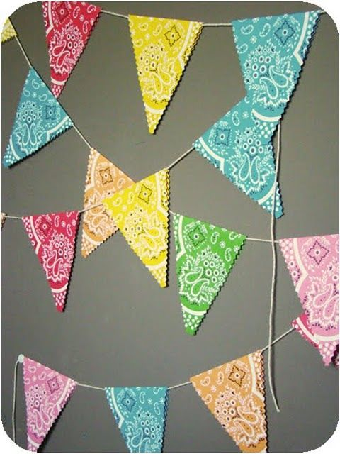 cute bandana bunting - this one is actually made out of paper from martha
