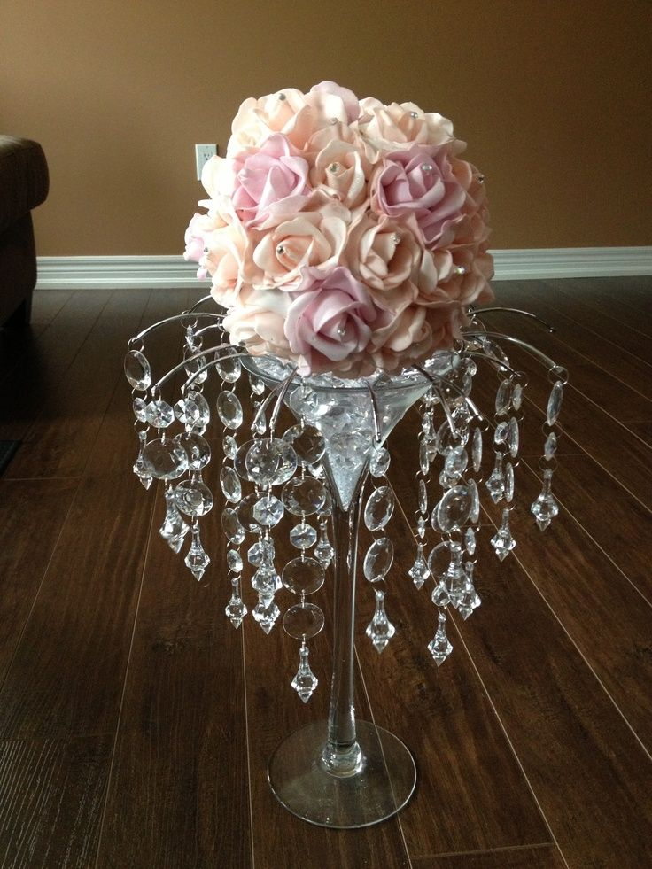 Martini Glass Wedding Table Decorations   Google Search