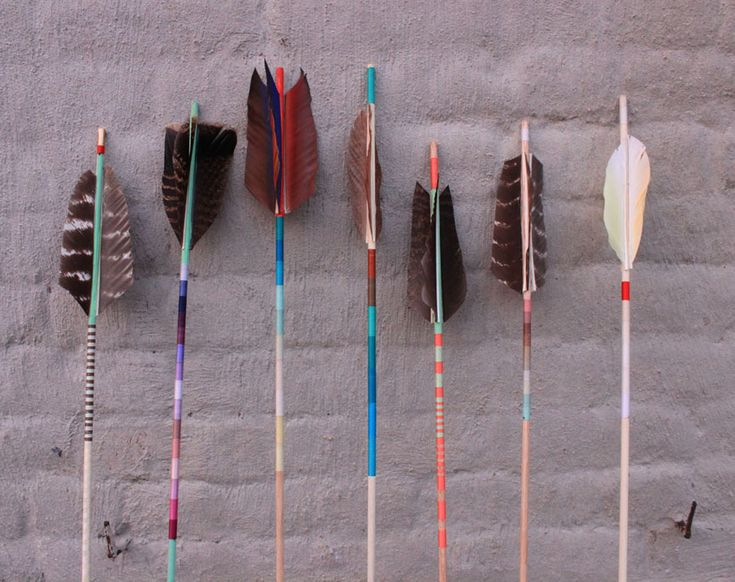 Fredericks and Mae handmade arrows.  So beautiful-works of art.