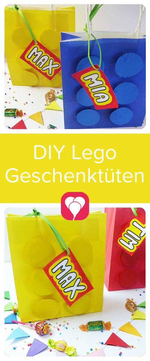 Eine passende Lego-Mitgebsel-Tüte ist für die Mottoparty zum Kindergeburtstag kannst Du schnell selbstmachen. Auf  blog.balloonas.com zeigen wir Dir, wie es geht! Schau doch mal vorbei und entdecke unsere vielen Ideen von Einladungen, über Dekoration und Spiele, bis zu Mitgebseln und Essen für Deinen Kindergeburtstag! blog.balloonas.com #balloonas #kindergeburtstag #lego #motto #mottoparty #mitgebsel #giveaway #favor #gastgeschenk #geschenk