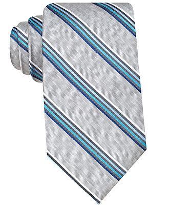 Perry Ellis Tie, Parker Stripe - Mens Ties - Macy's