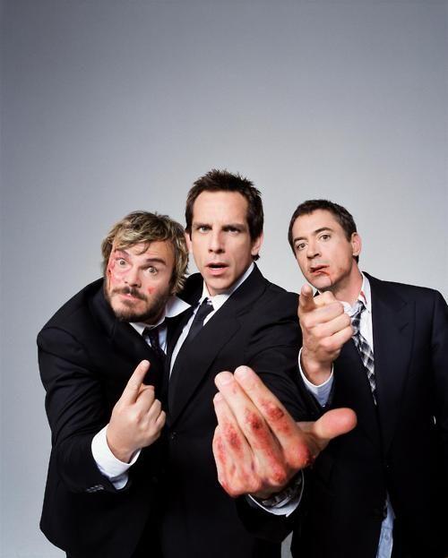 Ben Stiller, Robert Downey Jr. & Jack Black by Jake Chessum