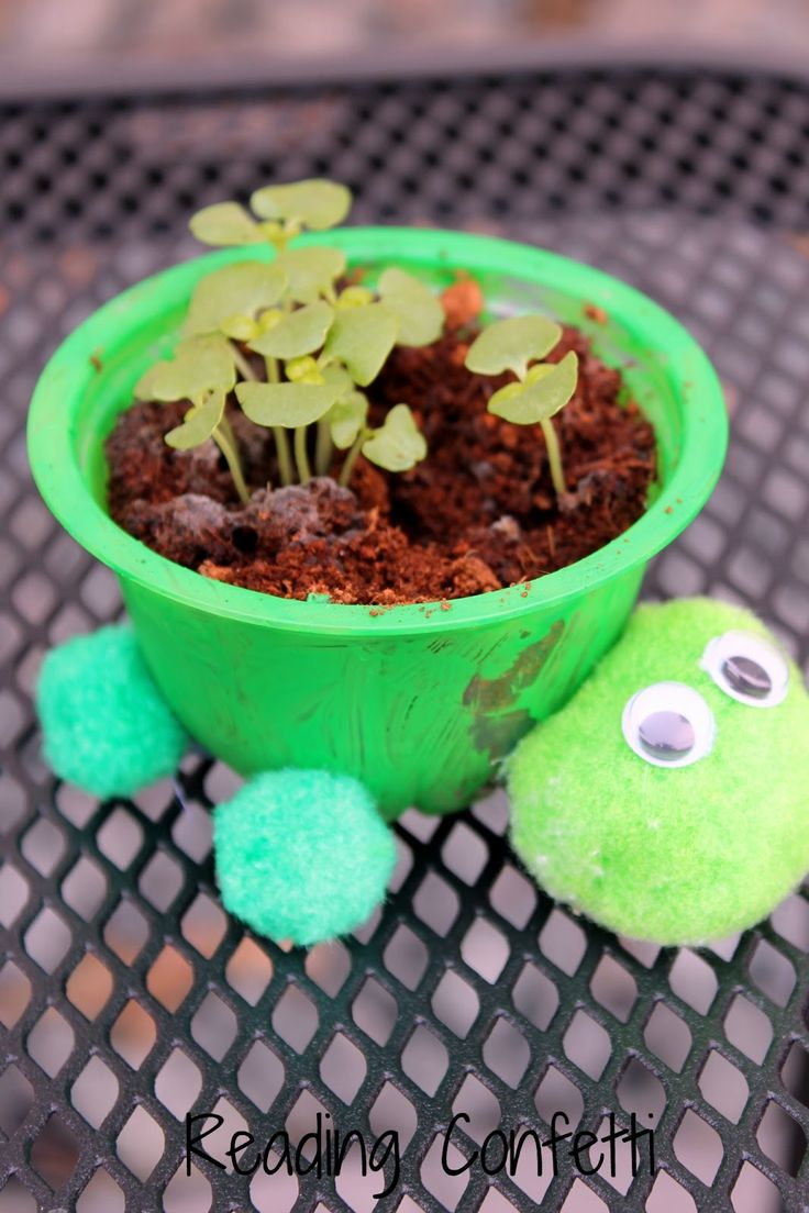 A fun way to make herb planters from recycled materials for Cool things to make with recycled materials