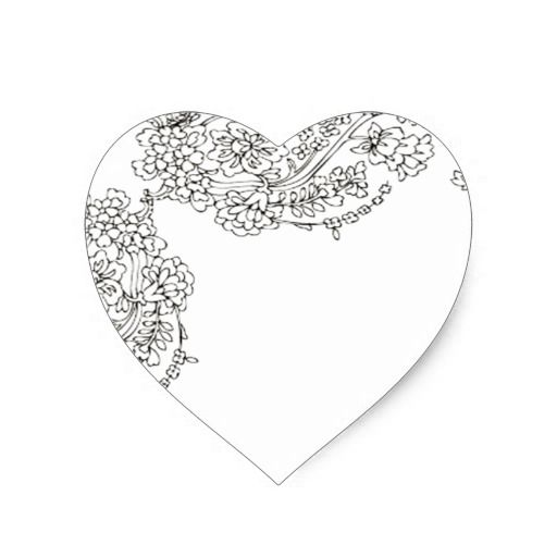 Vintage Lace Tattoo Look Heart Sticker | Zazzle
