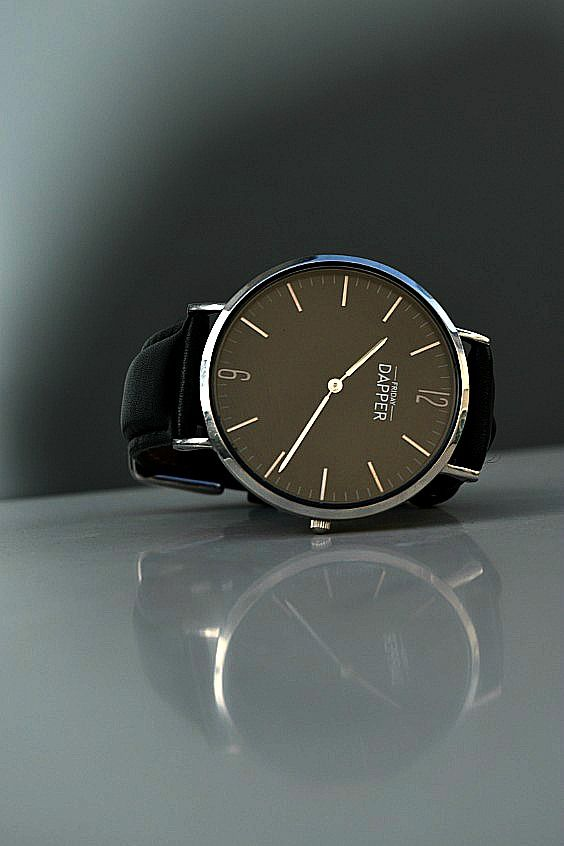 Love the black face on this Friday Dapper watch