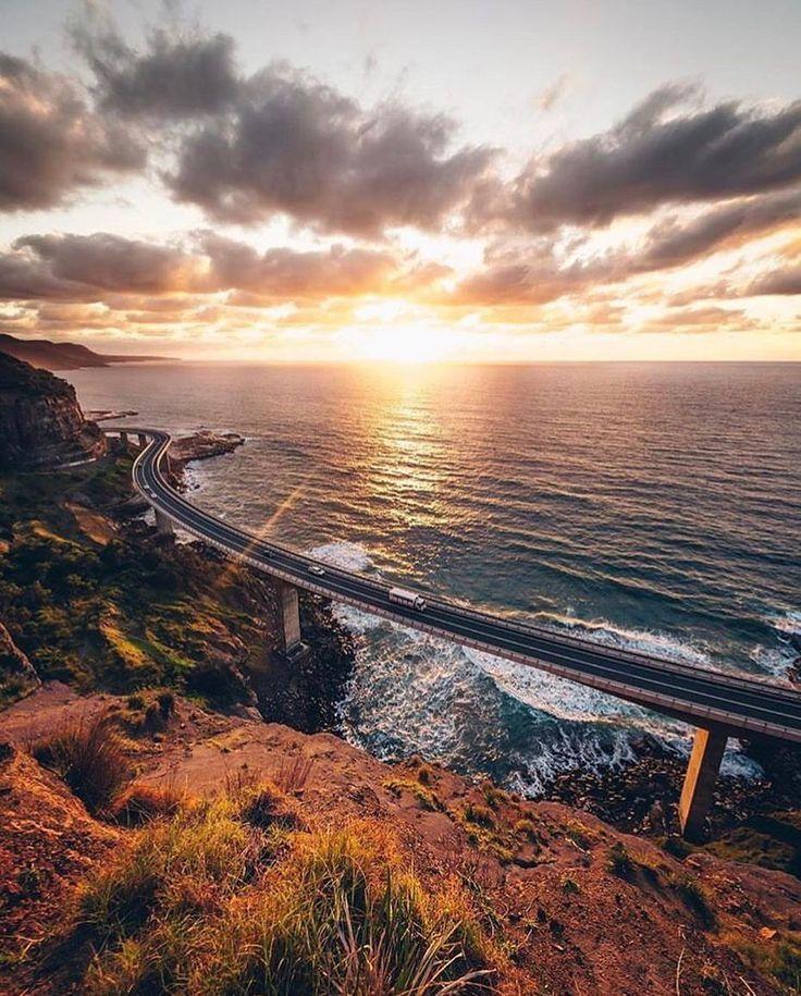 "766 Likes, 11 Comments - ⠀⠀⠀⠀⠀⠀ ⠀⠀⠀⠀ ⠀create & explore🌹 (@swamp) on Instagram: ""Sea Cliff Bridge, Australia 🇦🇺🚗 - Photo by @instagrannt 📸 ⠀⠀ ⠀ ⠀⠀⠀ ⠀ 👉🏽 FOLLOW @swamp 👈🏽⠀⠀⠀ ⠀ 💡…"""