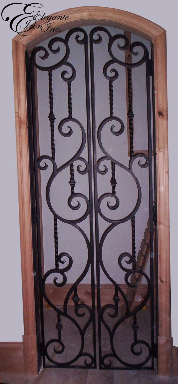 39 best images about wine doors and other elegante iron interior doors on pinterest arches - Wrought iron indoor decor classy elegance ...