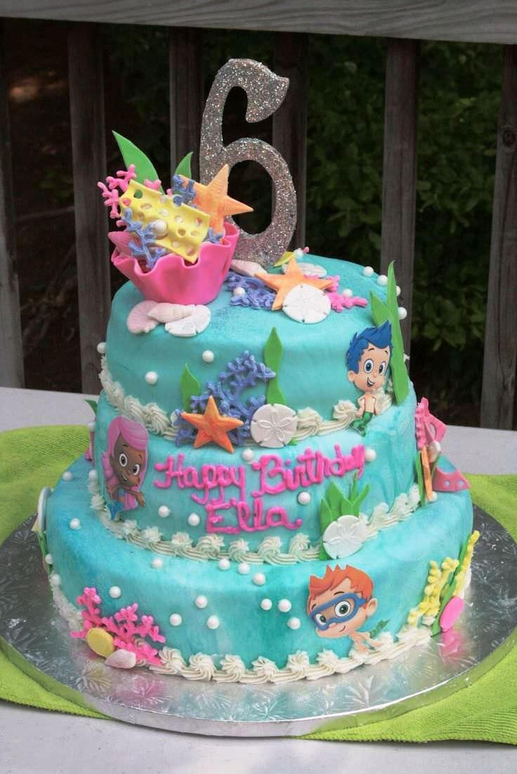 Phenomenal 25 Best Ideas About Bubble Guppies Cake On Pinterest Bubble How To Birthday Cards Printable Trancafe Filternl