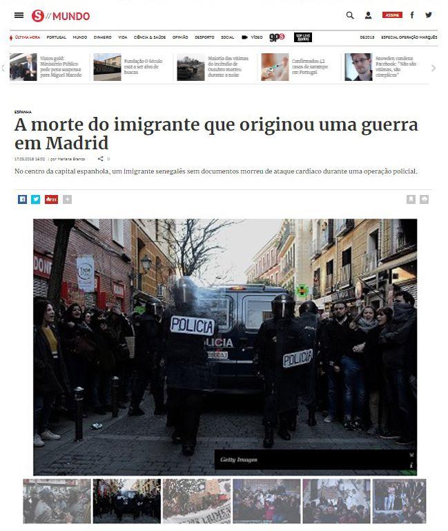 A morte do imigrante que originou uma guerra em Madrid