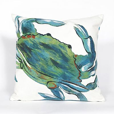 An adorable crab throw pillow is the ideal way to add a quick touch of nautical charm.   $60