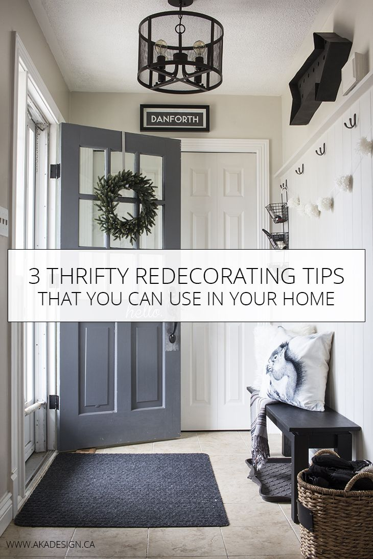 3 Thrifty Redecorating Tips That You Can Use In Your Home