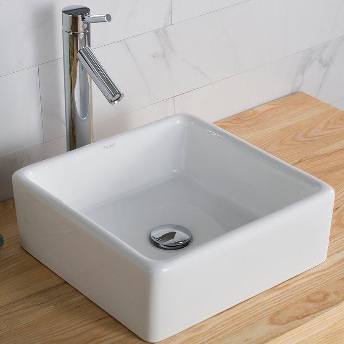Ceramic Square Vessel Bathroom Sink Square Bathroom Sink Bathroom Design Small Bathroom Decor