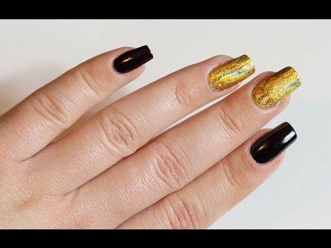 Gold Nail Art   Дизайн ногтей   네일아트   ネイルアート - YouTube