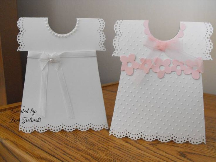 Dress christening cards by Lorianna3344 - Cards and Paper Crafts at Splitcoaststampers