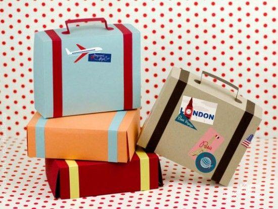 Bomboniera matrimonio scatolina valigia viaggio
