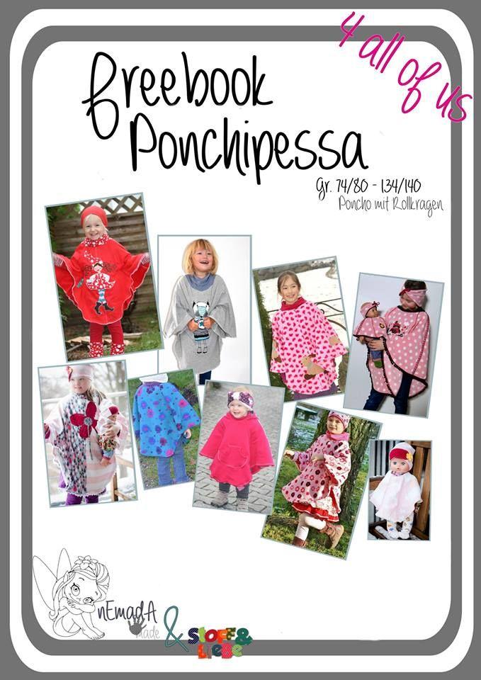 Freebook Ponchipessa - Kinderponcho 74 - 140