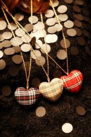 Plaid heart pendant. LOVE!!!!!!!!!!!!!!!