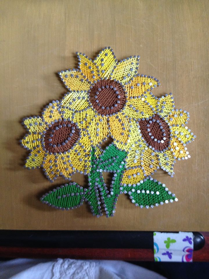 STRING ART: sunflowers,$35 if interested in purchasing email me at missbea0717@gmail.com