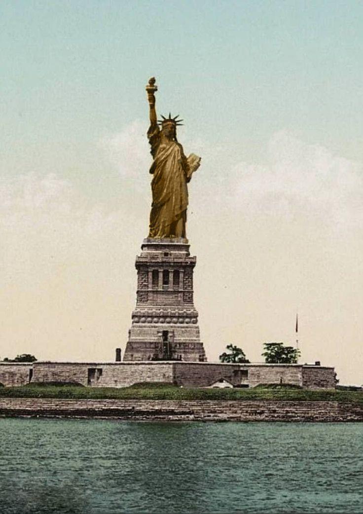 статуя свободы первые фото она стала студенткой