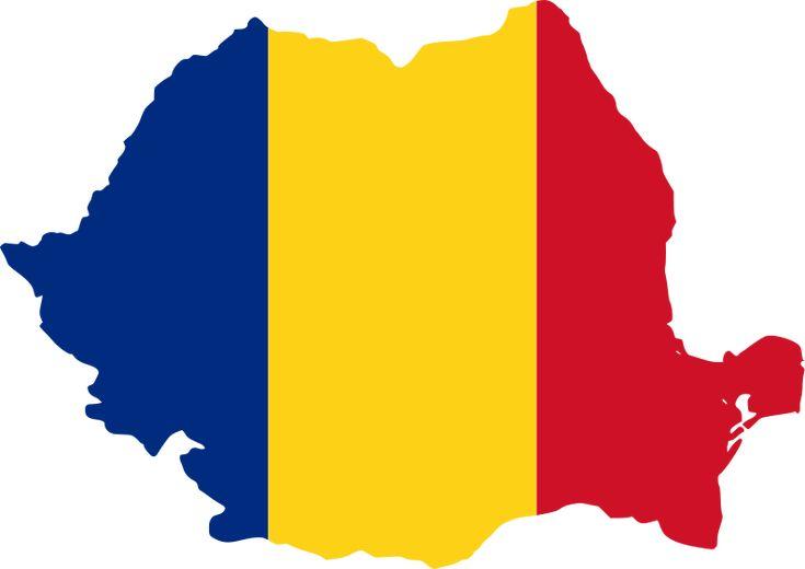 Romania flag map