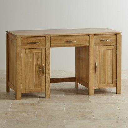 Galway Natural Solid Oak Large Computer Desk