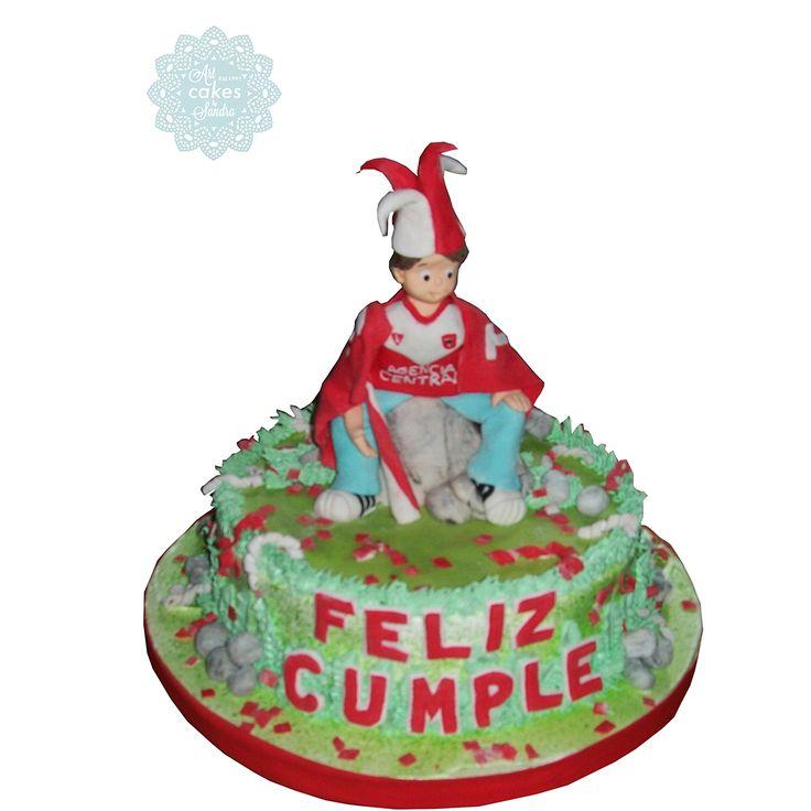 boy birthday cake soccer fanatic#bysandradesouza