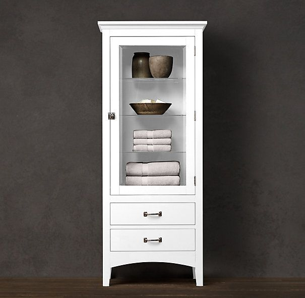 Cartwright tall cabinet l restoration hardware love this for Restoration hardware bathroom cabinets