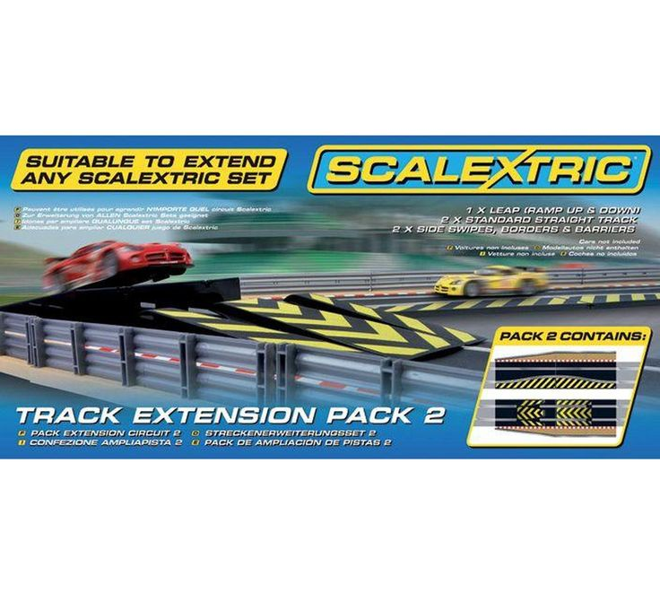 Buy Scalextric Track Extension Pack 2 - Leap Track Accessory at Argos.co.uk, visit Argos.co.uk to shop online for Toy cars, vehicles and sets, Toy cars, trains, boats and planes, Toys