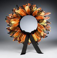 Happy Halloween Ribbon Wreath