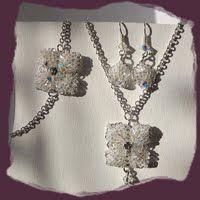 Handmade wedding jewelry set by Zsuzsubizsu (http://zsuzsubizsu.blogspot.hu/)