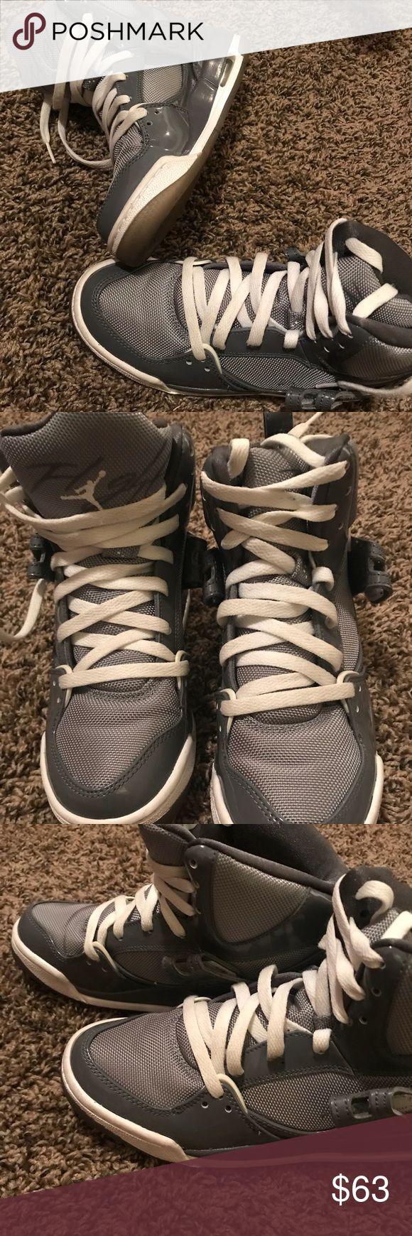 Jordan's Slightly worn grey & white Jordan's purchased from Champs Sports in 2011 Jordan Shoes Sneakers